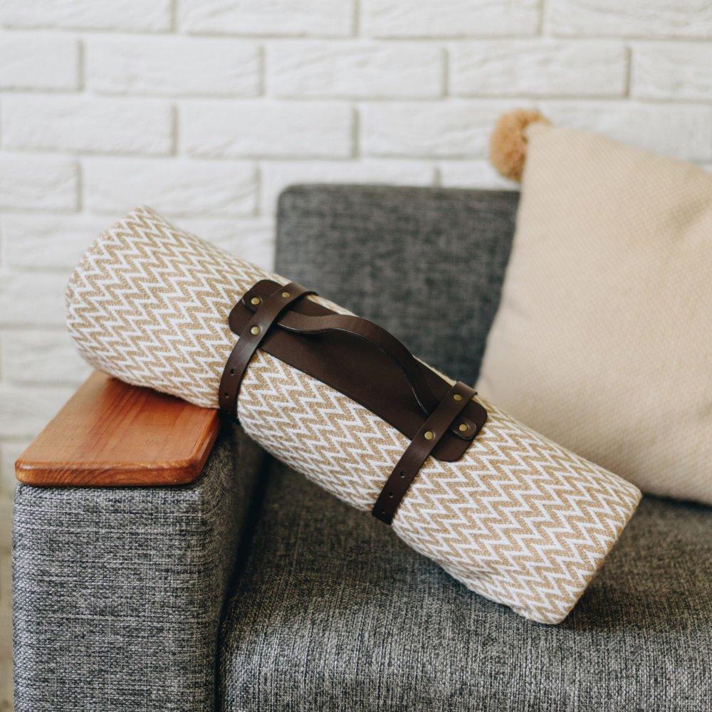 Leather Blanket Holder