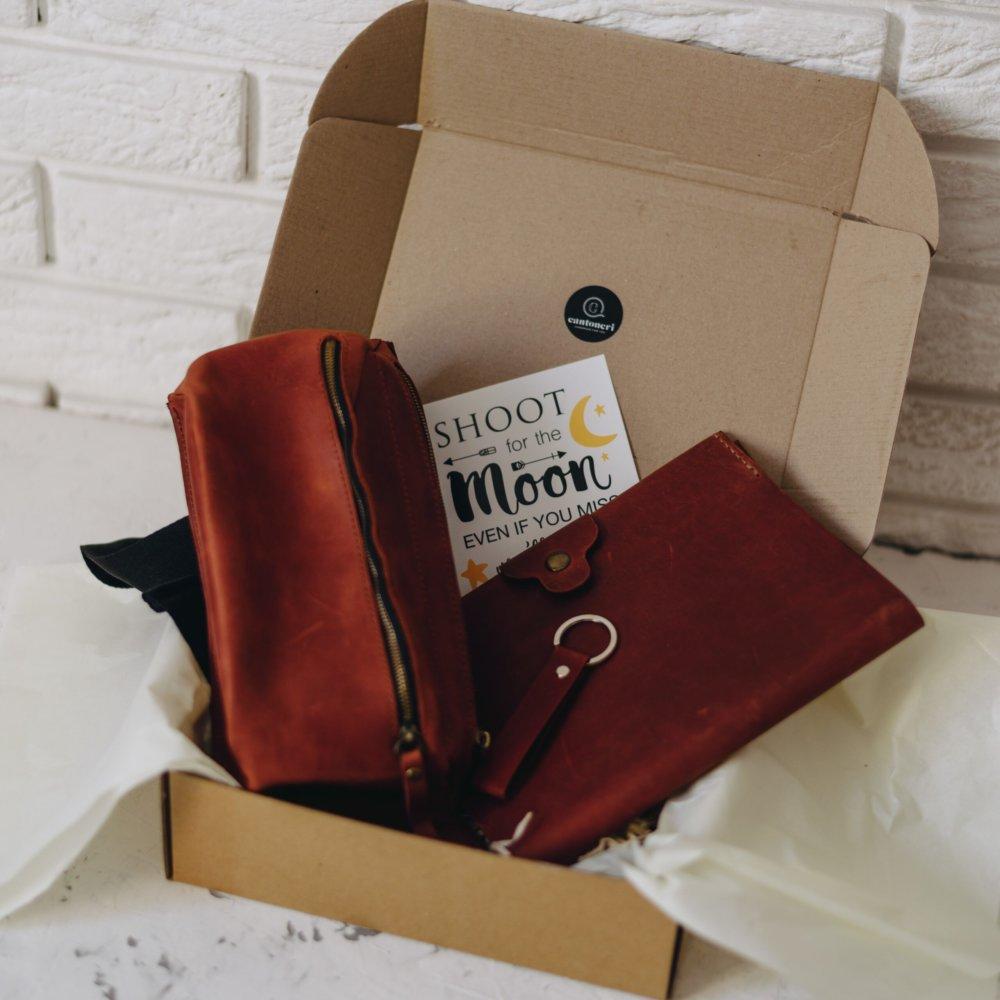 Men's Unique Leather Gift Set