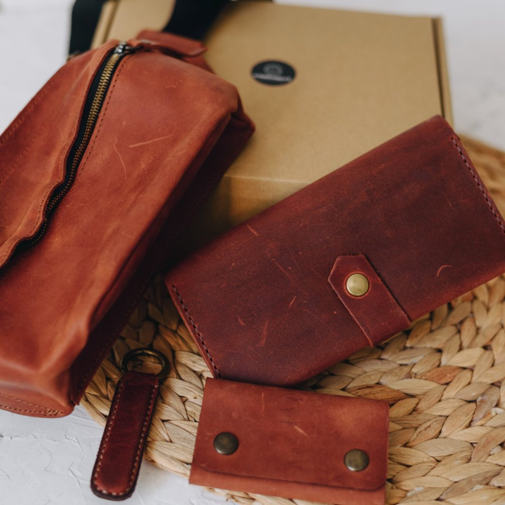 Unique Leather Gift Set for Him & Her