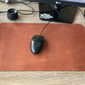 Cognac Leather Mouse Pad