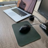 Green Leather Mouse Pad
