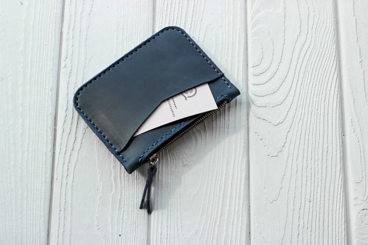 Вlue Leather Card Holder