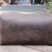 Brown Leather Dopp Kit