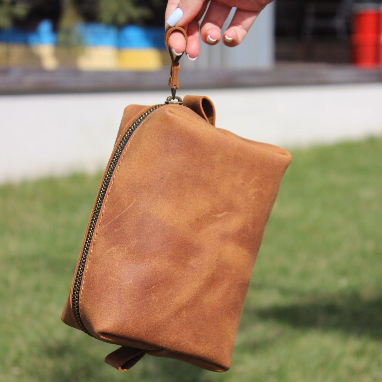 Leather Dopp Kit