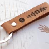 Spotify Leather Keychain