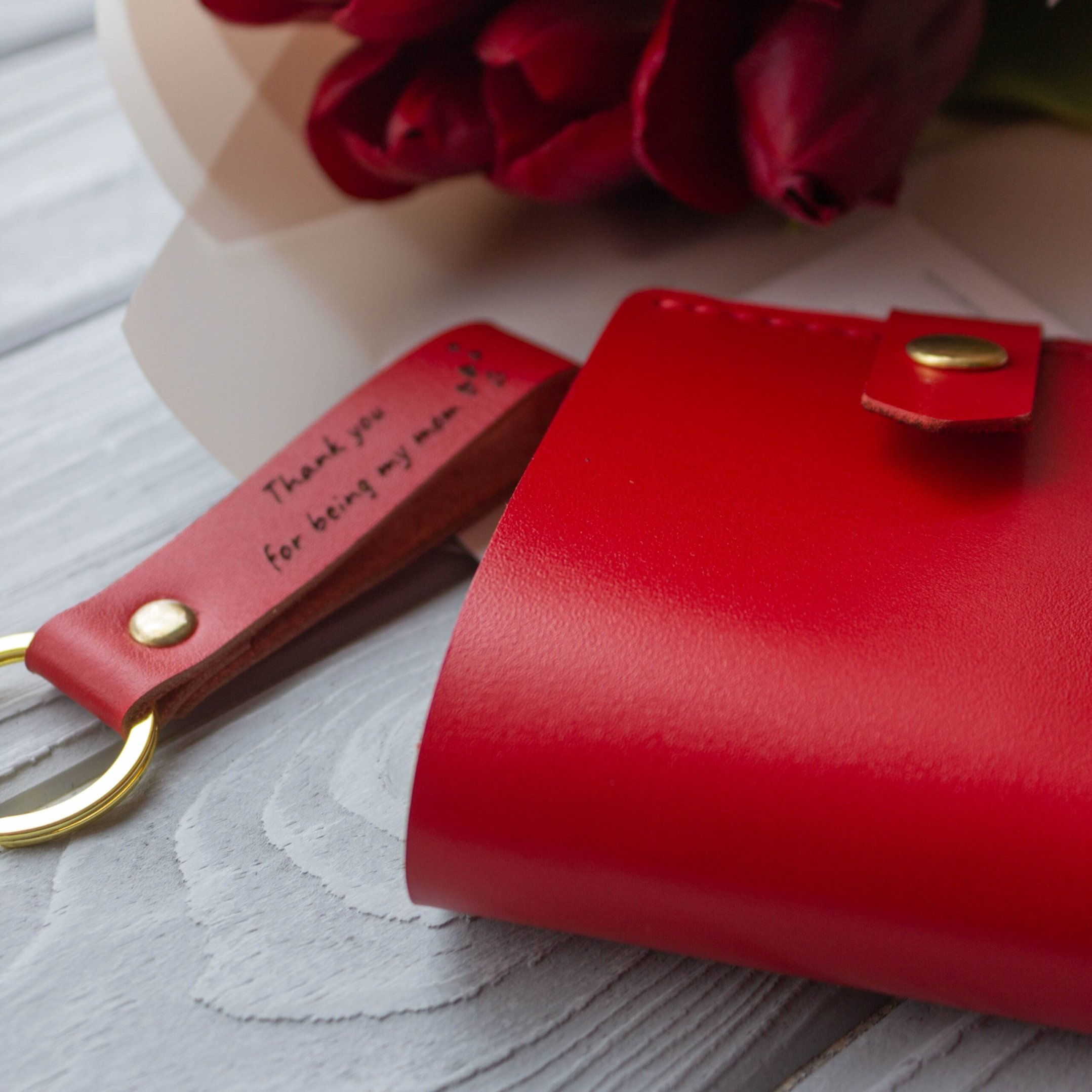 Red Leather Gift Set for Women