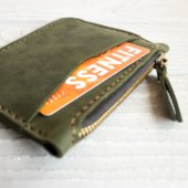 Green Leather Card Holder
