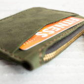 Green Card Holder with Coin Purse
