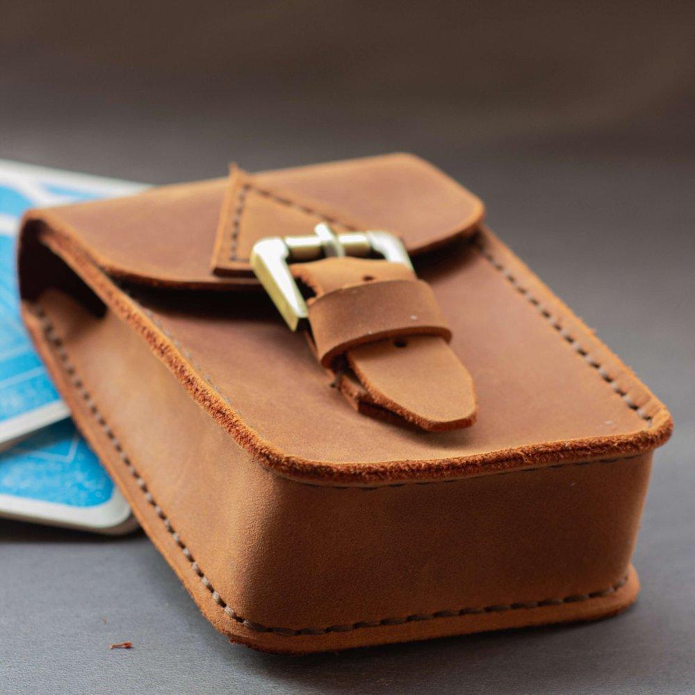 Cognac Leather Tarot Case
