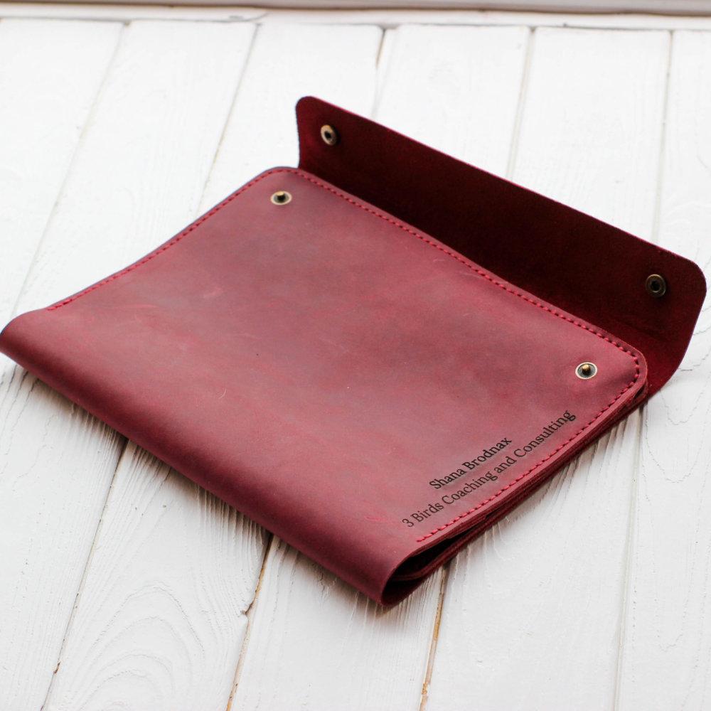 Leather Marsala Remarkable 2 Tablet Case