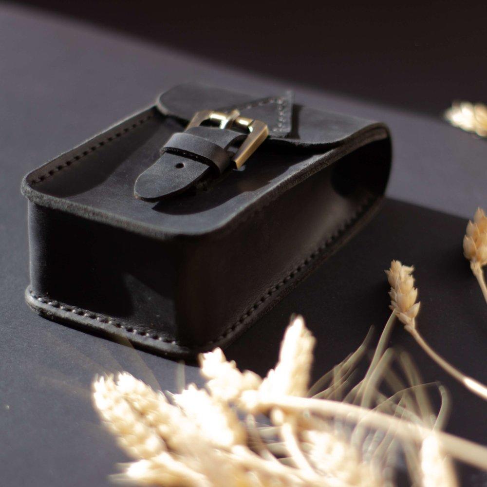 Black Leather Tarot Case