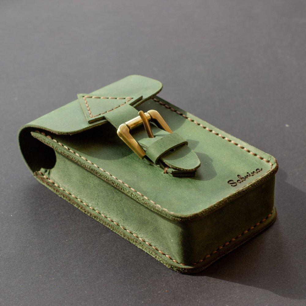 Green Leather Tarot Case