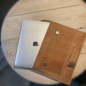 Leather Cognac MacBook Case