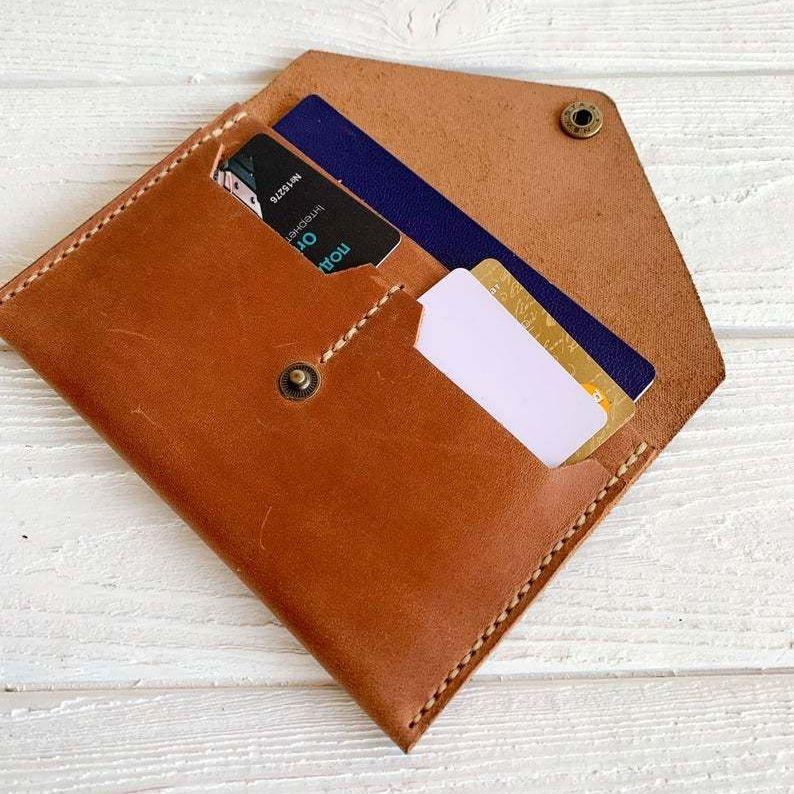 Cognac Travel Wallet Organizer