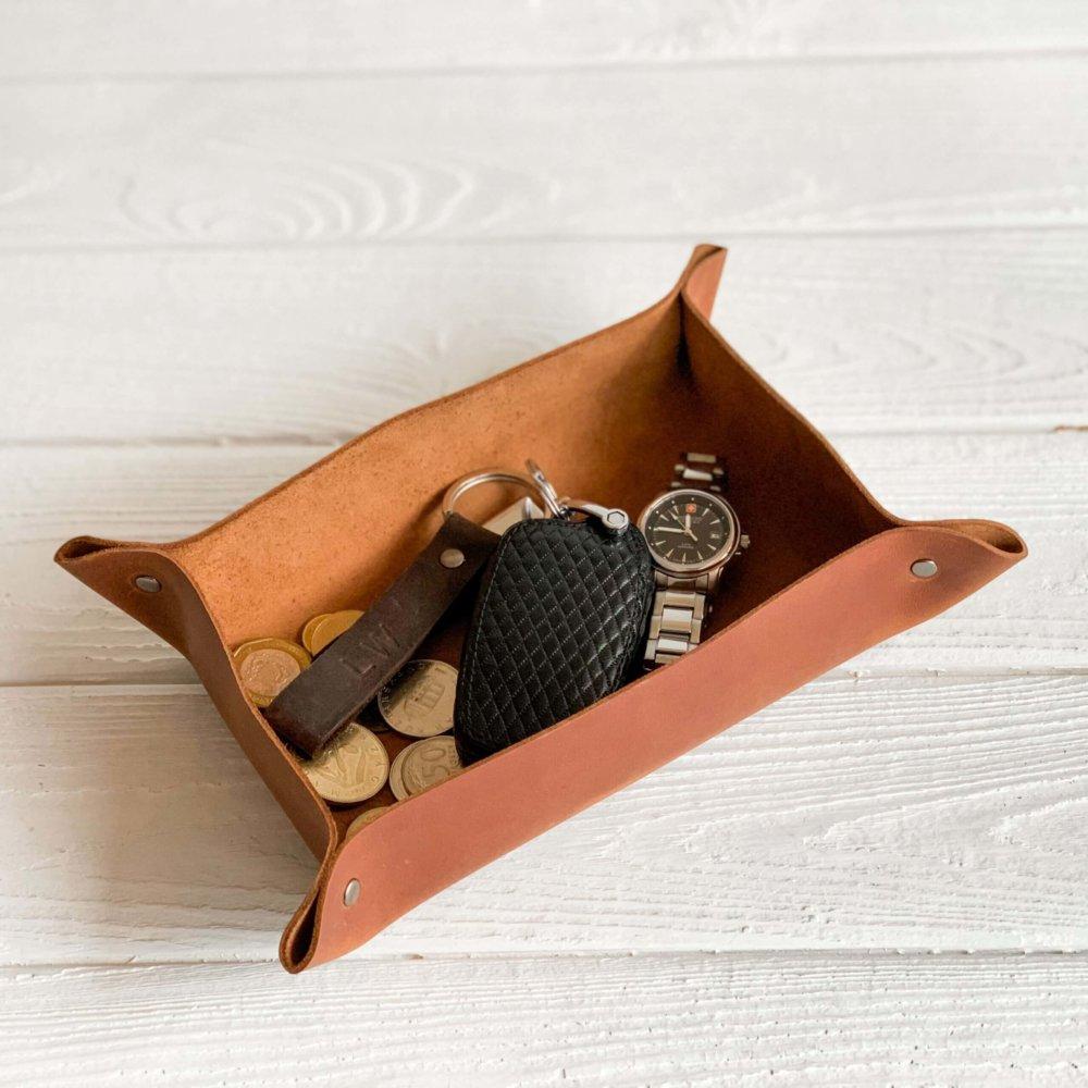 Medium Leather Valet Tray