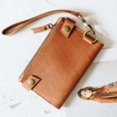 Travel wallet with handle