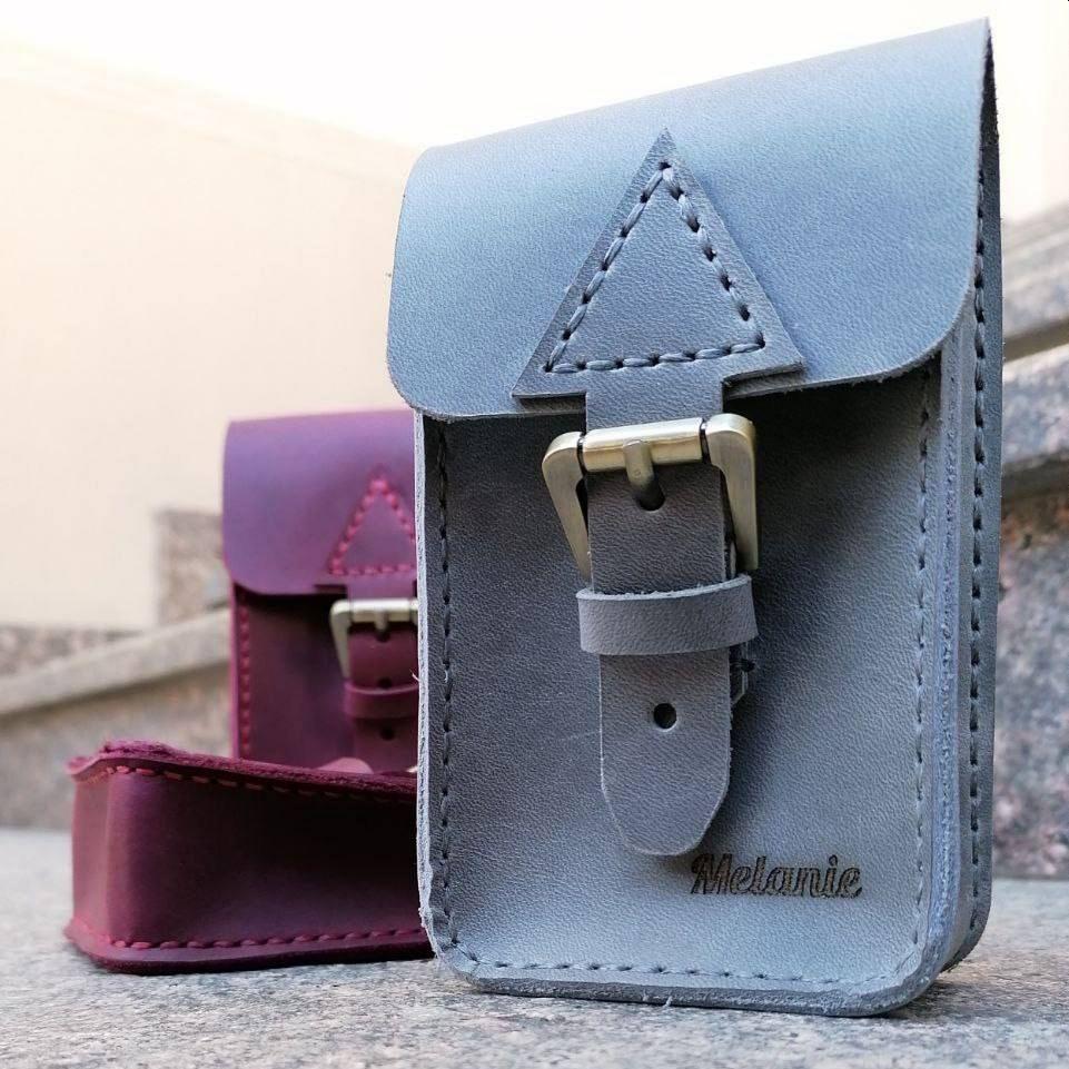 Gray Leather Tarot Case