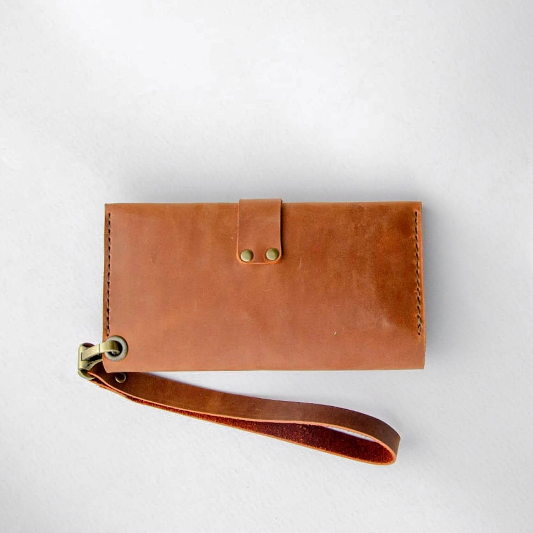 Сognac leather wallet