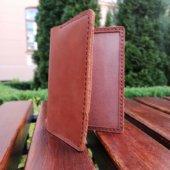 leather vaccine card case
